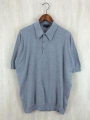 ポロシャツ/L/ウール/GRY