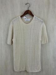 セーター(薄手)/L/リネン/BEG