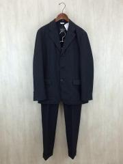 スーツ/L/ウール/BLK/チェック