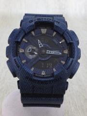 腕時計/デジアナ/デニム転写プリント/GA-110DC-2A7JF/箱付