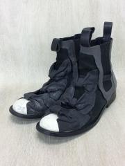 CHELSEA BOOT/リボン付きブーツ/24.5cm/GRY/スウェード/GT-K102-001-1-4