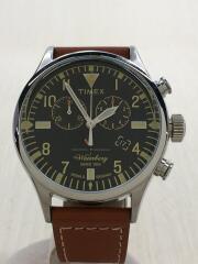 ウォーターベリー/クォーツ腕時計/アナログ/レザー/BLK/TW2P84300