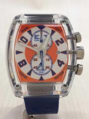 locman/ELBA TEAM/クォーツ腕時計/アナログ/ラバー/ORN/BLU/REF.370