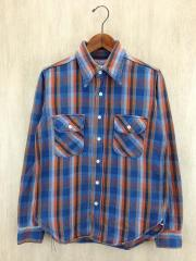 長袖シャツ/size:14/コットン/マルチカラー/チェック