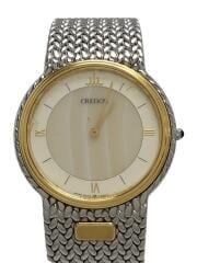 クォーツ腕時計/アナログ/ステンレス/ホワイト/シルバー/5a74-0240