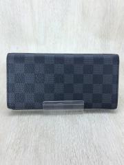 長財布/PVC/GRY/チェック/メンズ
