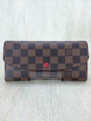 長財布/PVC/BRW/チェック/レディース