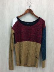 セーター/S/ウール/マルチカラー