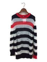 セーター(厚手)/M/ウール/マルチカラー/ボーダー