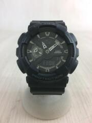クォーツ腕時計/GA-110/デジアナ/ラバー/BLK/BLK
