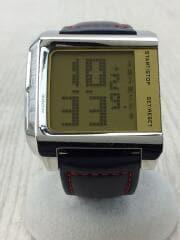 クォーツ腕時計/デジタル/BLK/DZ-7093