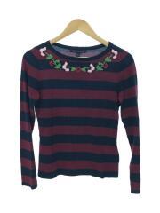 セーター(薄手)/S/コットン/BRD/ボーダー/ベーシック/刺繍