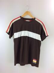 20SS/BROWN JEORGE T-shirt/Tシャツ/L/コットン/BLK/無地/MS20JE04