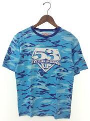 EVISU/エヴィス/Tシャツ/38/コットン/ブルー/カモフラ