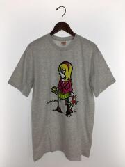 Tシャツ/M/コットン/GRY/プリント/Ash Grey
