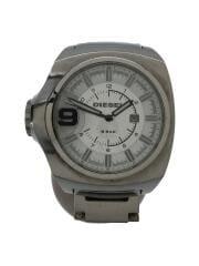 ディーゼル/クォーツ腕時計/アナログ/WHT/ホワイト/SLV/シルバー