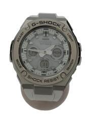 ソーラー腕時計・G-SHOCK/デジアナ/ラバー/WHT/WHT