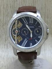 フォッシル/手巻腕時計/アナログ/レザー/NVY/BRW/ME1161