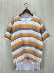 Tシャツ/M/コットン/ORN/ボーダー