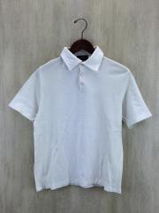 ポロシャツ/46/コットン/WHT