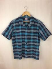 半袖シャツ/S/コットン/BLU/チェック