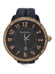 クォーツ腕時計/アナログ/BLK/N04V