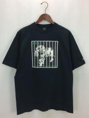 Tシャツ/L/コットン/BLK/無地