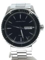 ハミルトン/クォーツ腕時計/アナログ/ステンレス/ブラック/SLV/H375110