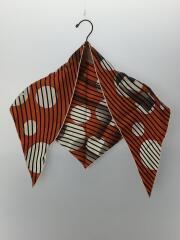 ポワントゥ 三角スカーフ シルク オレンジ Hロゴ