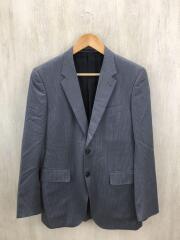 テーラードジャケット/M/ウール/GRY/ストライプ