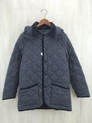 キルティングジャケット/L/ウール/GRY