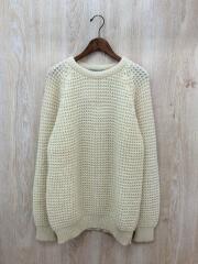 セーター(厚手)/M/ウール/WHT