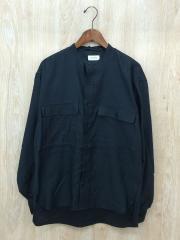 18SS/バンドカラーシャツ/48/コットン/NVY