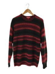 シュプリーム/17AW/Ombre Stripe Sweater/セーター/L/アクリル/RED/ボーダー