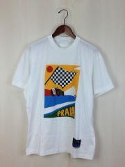 Printed Cotton-Jersey/Tシャツ/L/コットン/WHT