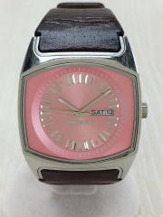 クォーツ腕時計/アナログ/PNK