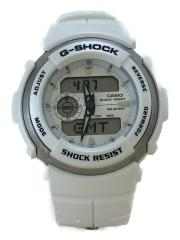 クォーツ腕時計・G-SHOCK/デジアナ/ラバー/WHT/WHT