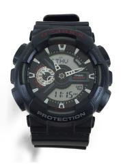 クォーツ腕時計・G-SHOCK/デジアナ/樹脂バンド/BLK/BLK/GA-110-1BJF