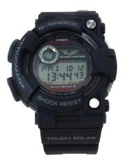ソーラー腕時計・G-SHOCK/TOUGH SOLAR/FROGMAN/デジタル/ラバー/BLK/箱付