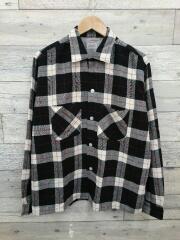 60s/Montgomery Ward/平行四辺形タグ/赤ステッチシャツ/M/チェック/ヴィンテージ