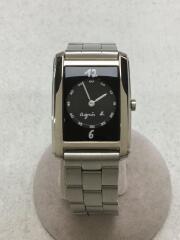 クォーツ腕時計/アナログ/ステンレス/BLK/SLV/V700-5J40