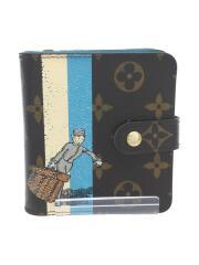 2つ折り財布/PVC/BRW/総柄/ユニセックス/M60036