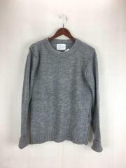 セーター(薄手)/1/ウール/GRY/袖汚れ
