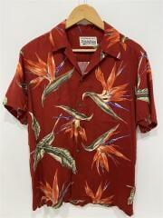18ss/BIRD OF PARADISE S/S HAWAIIAN SHIRT/半袖シャツ/M/--/RED