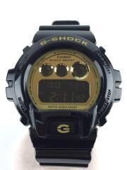 カシオ/G-SHOCK/クォーツ腕時計/デジタル/エナメル/GLD/BLK/DW-6900CB