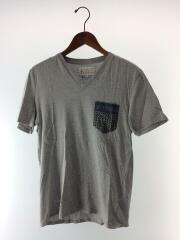 VネックTee/Tシャツ/46/コットン/グレー/無地/カットソー/トップス/S30GC0369