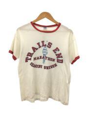 Tシャツ/L/コットン/バータグ後期/70~80年代/白T/古着/ヴィンテージ/セカスト