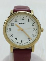 クォーツ腕時計/アナログ/--/WHT/RED