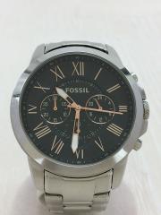 クォーツ腕時計/アナログ/ステンレス/BLK/SLV/FS4994