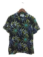 GUILTY PARTIES/PRINTEDFLOWER S/S HAWAIIANSHIR/アロハシャツ/M/レーヨン